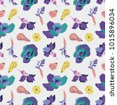 vector seamless pattern with... | Shutterstock .eps vector #1015896034