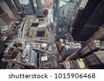 new york city skyscrapers in... | Shutterstock . vector #1015906468