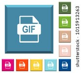 gif file format white icons on... | Shutterstock .eps vector #1015913263