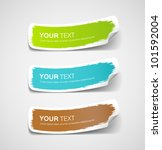 colorful label paper brush... | Shutterstock .eps vector #101592004