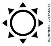 summer sun isolated icon | Shutterstock .eps vector #1015920166
