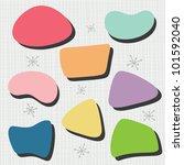 50's bubble shapes | Shutterstock .eps vector #101592040