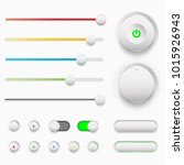 vector illustration of ui set....