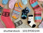 socks of different sizes and... | Shutterstock . vector #1015930144