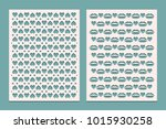 templates panels for cutting... | Shutterstock .eps vector #1015930258