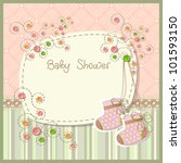 lovely baby shower with baby... | Shutterstock . vector #101593150