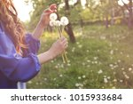 young spring fashion woman... | Shutterstock . vector #1015933684