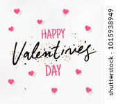 valentines day greeting card... | Shutterstock .eps vector #1015938949