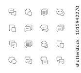 speech bubble line icons. | Shutterstock .eps vector #1015942270