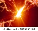 lightning  background  electric | Shutterstock . vector #1015953178