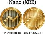 set of physical golden coin... | Shutterstock .eps vector #1015953274