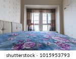clean bed and bedroom. | Shutterstock . vector #1015953793