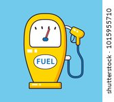 gas fuel pump cartoon icon | Shutterstock .eps vector #1015955710