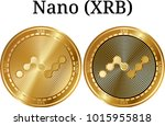 set of physical golden coin... | Shutterstock .eps vector #1015955818