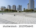 modern buildings and empty... | Shutterstock . vector #1015956643