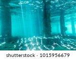 Underwater View Of Under A Pier ...