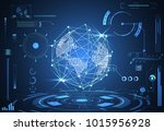 abstract technology ui... | Shutterstock .eps vector #1015956928