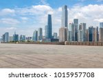 guangzhou city square road and... | Shutterstock . vector #1015957708