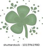 a super lucky four leaf clover  ... | Shutterstock .eps vector #1015961980