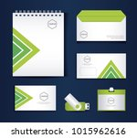 stationary templates design | Shutterstock .eps vector #1015962616