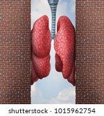 asthma health problem concept... | Shutterstock . vector #1015962754