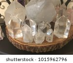clear quartz crystal points | Shutterstock . vector #1015962796