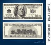 abstract halftone us dollar... | Shutterstock .eps vector #1015968949