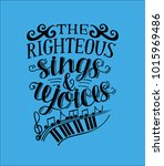 Hand Lettering The Righteous...