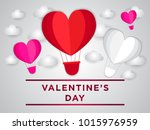 happy valentines day vector... | Shutterstock .eps vector #1015976959