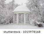 A Pavilion In The Winter Park...