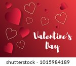 valentine s day abstract... | Shutterstock .eps vector #1015984189