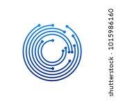 circular logo icon. link icon...   Shutterstock .eps vector #1015986160