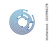 circular logo icon. link icon... | Shutterstock .eps vector #1015986178