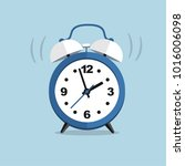 blue clock isolated in flat... | Shutterstock .eps vector #1016006098
