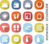 flat vector icon set   purse... | Shutterstock .eps vector #1016006308
