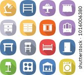 flat vector icon set   table... | Shutterstock .eps vector #1016006380