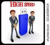 3d man high speed usb concept... | Shutterstock . vector #1016008414