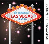 welcome to fabulous las vegas ... | Shutterstock .eps vector #101601070