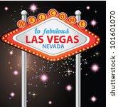 welcome to fabulous las vegas ... | Shutterstock .eps vector #101601070