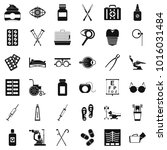 curative icons set. simple set... | Shutterstock .eps vector #1016031484
