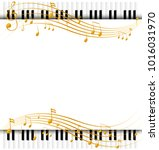 musical notes frame template | Shutterstock .eps vector #1016031970