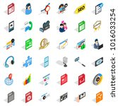variety of press icons set.... | Shutterstock .eps vector #1016033254