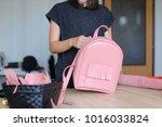 handmade blogger shooting video ... | Shutterstock . vector #1016033824