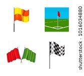 flag icon set. cartoon set of... | Shutterstock .eps vector #1016034880