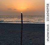 the sunset light at the beach | Shutterstock . vector #1016040958