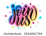 """hand sketched """"join us""""... 