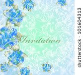 wedding card or invitation with ... | Shutterstock .eps vector #101604313