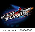 king of turbo icon concept... | Shutterstock .eps vector #1016045500