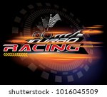 turbo racing icon concept vector | Shutterstock .eps vector #1016045509