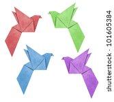 origami bird papercreft made...   Shutterstock . vector #101605384